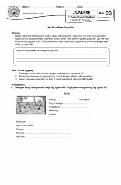 Interactive worksheet LKS 3 Geguritan