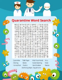 Interactive worksheet Quarantine Word Search