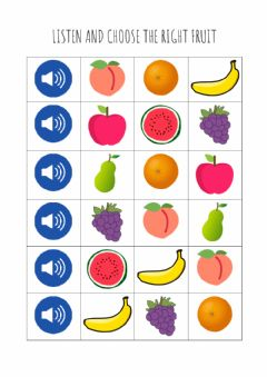 Interactive worksheet Fruits - listen