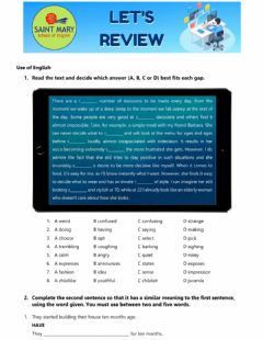 Interactive worksheet Vocabulary review
