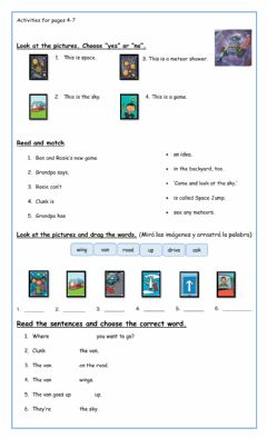Interactive worksheet Activities for pages4-7