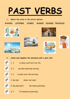 Ficha interactiva Past verbs