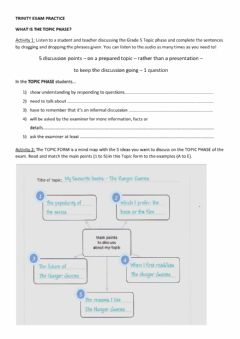 Interactive worksheet What is the Topic Phase