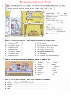 Ficha interactiva Countable and uncountable nouns