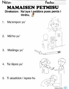 Interactive worksheet Mamaisen Petmisu