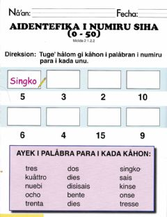 Interactive worksheet Aidentifika i Numiru Siha