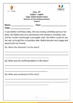 Ficha interactiva Storytelling Worksheet