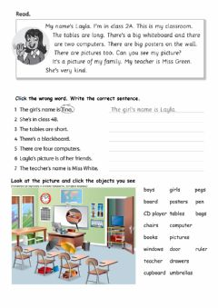 Interactive worksheet Family and Friends 2 Unit 1
