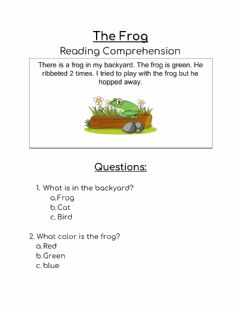 Interactive worksheet The Frog