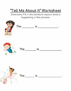 Interactive worksheet Tell me about it worksheet