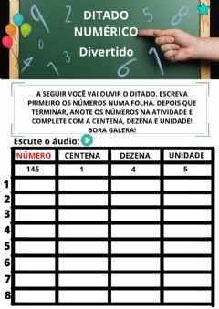 Interactive worksheet Ditado numérico