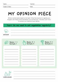 Interactive worksheet Opinion