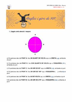 Interactive worksheet Girs i angles de 90º