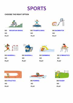 Interactive worksheet Go Play Do