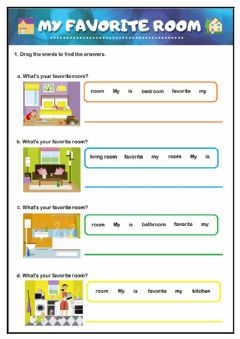 Interactive worksheet My favorite Room