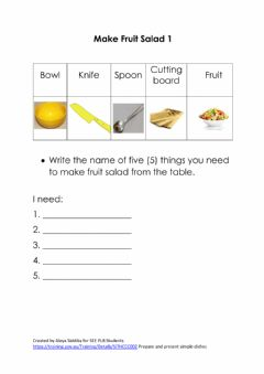Interactive worksheet Fruit Salad