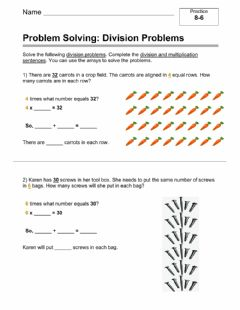 Interactive worksheet Problem Solving with Division