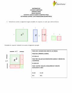 Interactive worksheet Factorización geométrica