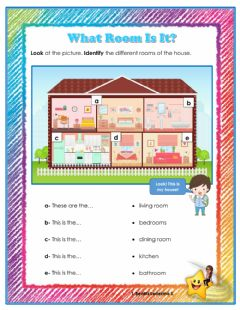 Interactive worksheet Room of the House: Practice