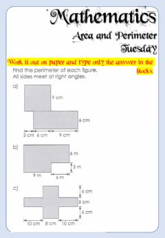 Interactive worksheet Week 23 - Mathematics - Tuesday 6