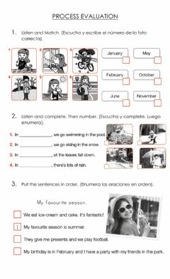 Interactive worksheet Months and Seasons 2