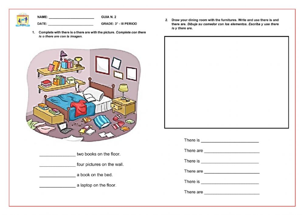 There Is - There Are Exercise Worksheet
