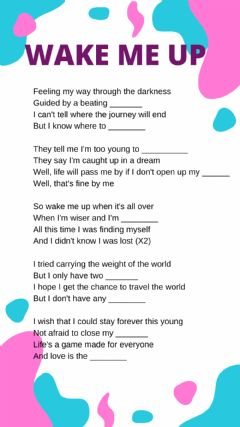 Interactive worksheet Wake me up
