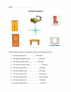 Interactive worksheet Compass Rose