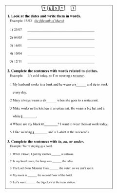 Interactive worksheet Adults test 1 vocab and gr