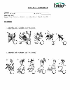 Interactive worksheet Young explorers 1 listening- units 1,2,3