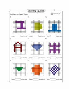 Interactive worksheet Area - Counting Squares Day 2 Level 1