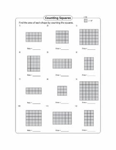 Interactive worksheet Area - Counting Squares - Area of a rectangle Day 4 Level 1