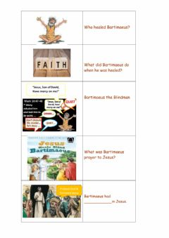 Interactive worksheet Son of David, Have Mercy on me