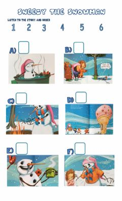 Interactive worksheet Sneezy the snowman