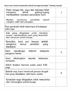 Interactive worksheet Gotong -Royong