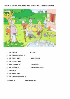 Interactive worksheet The green family