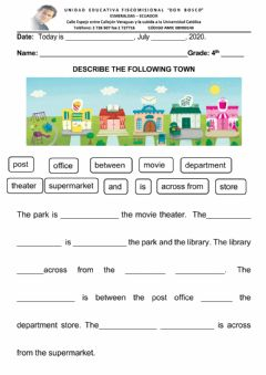 Interactive worksheet WRITING MY OWN PARAGRAPH 4TH