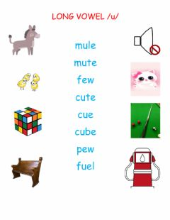 Interactive worksheet Long Vowel Sound u
