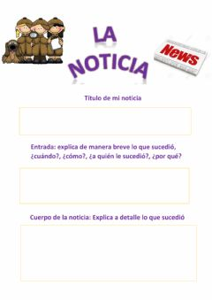 Interactive worksheet Escribimo una noticia