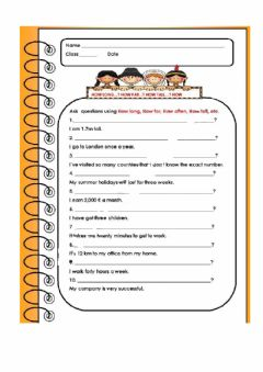 Interactive worksheet Questions with How