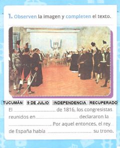 Interactive worksheet Independencia de Argentina