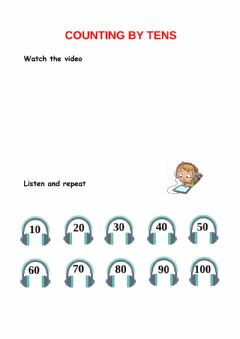 Ficha interactiva Counting by tens