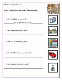 Interactive worksheet Activities for pages 17 and 19