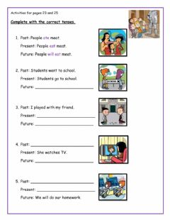 Interactive worksheet Activities for pages 23 and 25