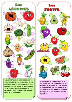 Ficha interactiva Les fruits et legumes