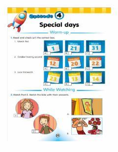 Interactive worksheet Special Day