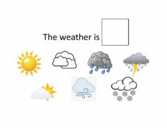 Interactive worksheet The Weather is...