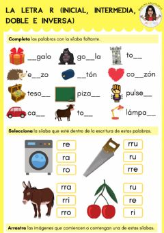 Interactive worksheet La letra R