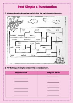 Ficha interactiva Simple Past and Punctuation