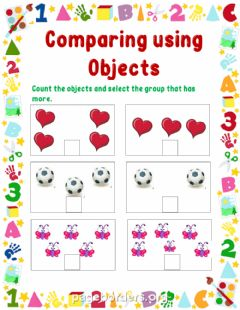 Interactive worksheet Comparing objects